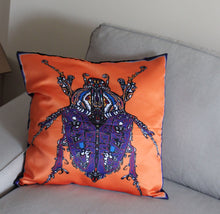 Orange Beetle Cushion