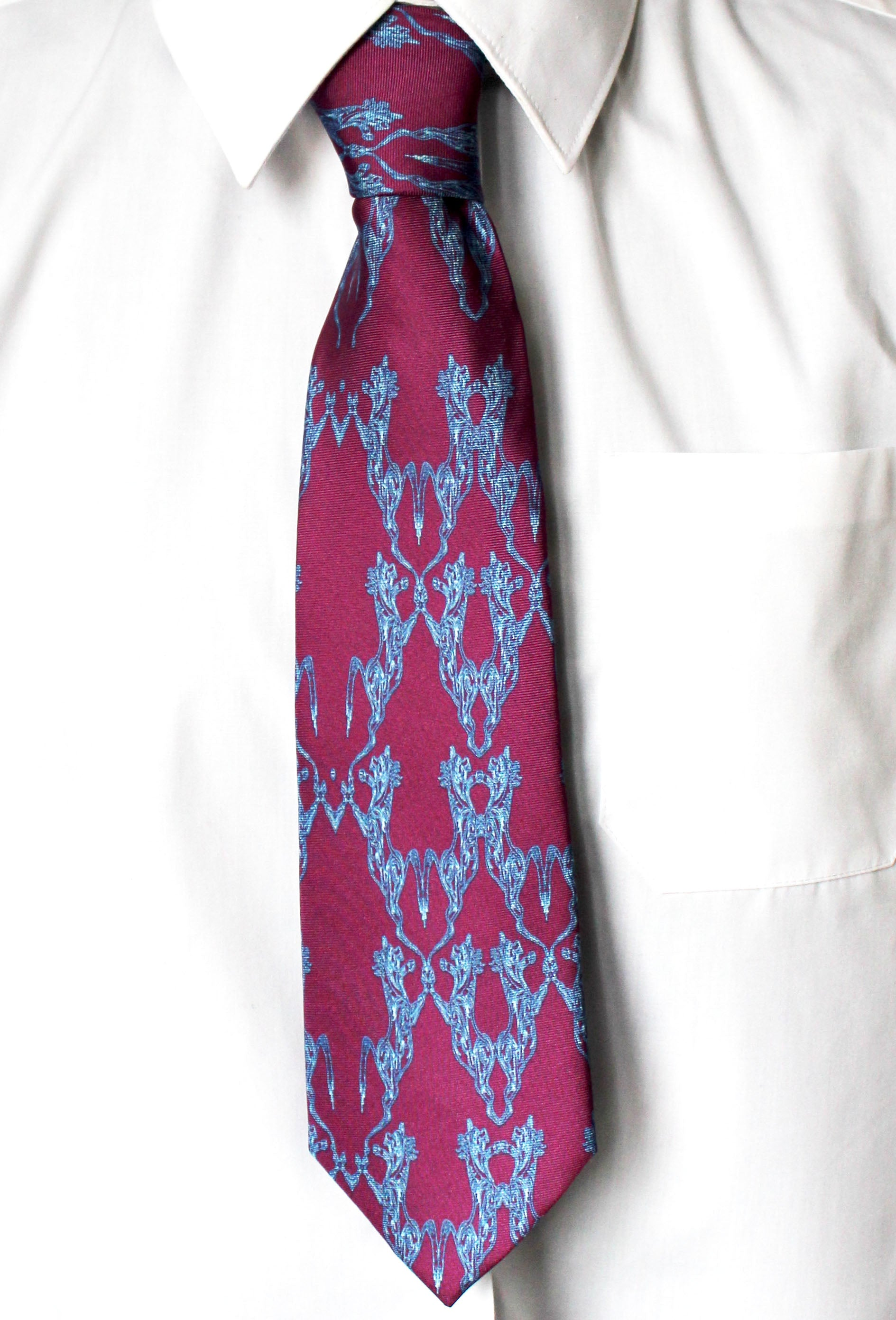 Purple Horse Dance, 100% Silk Twill Tie