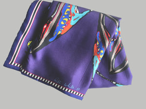 Purple Shoes Print, Silk Twilly Scarf