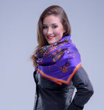 Purple Spider, Silk Scarf