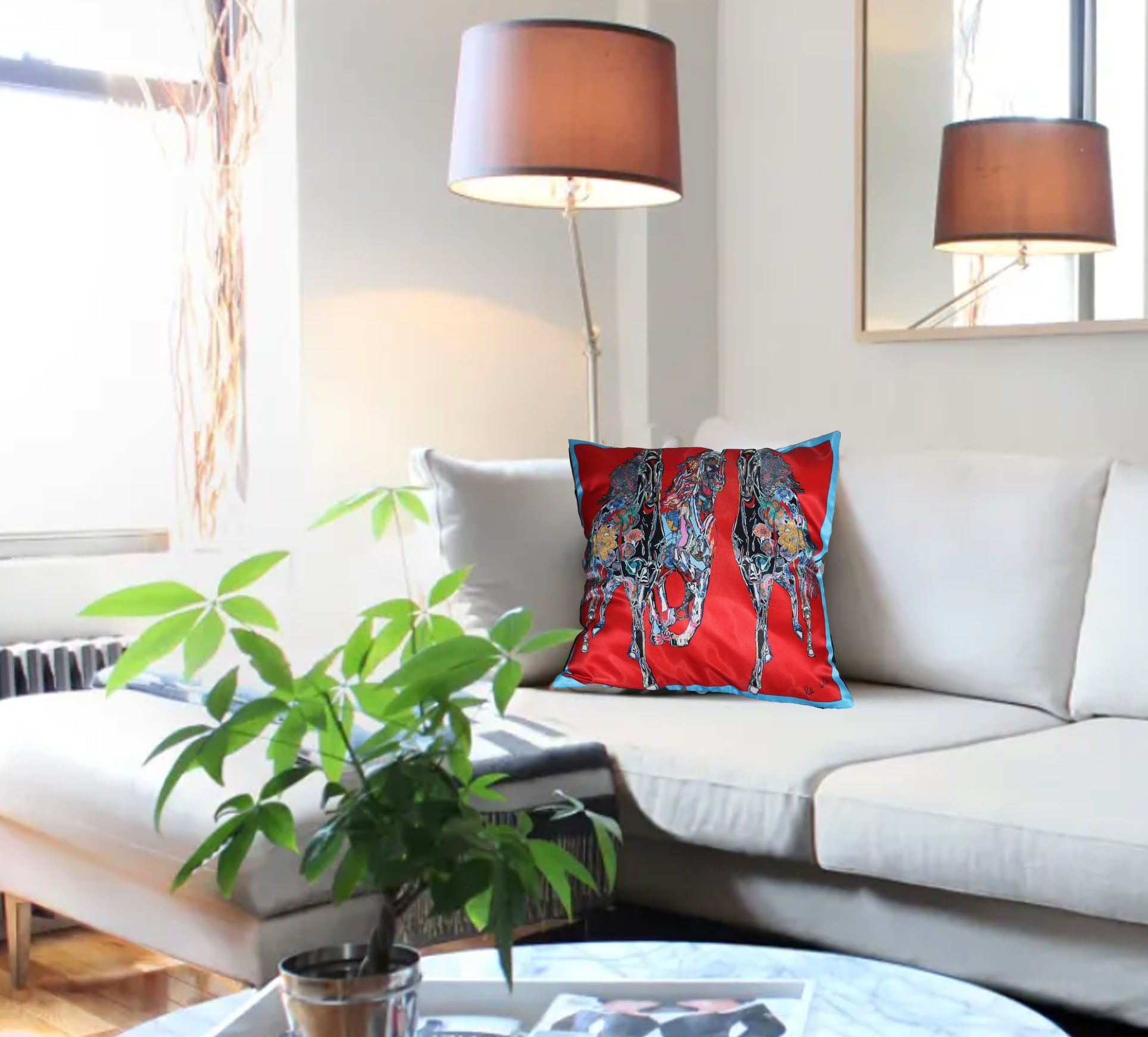 Red Gallop Cushion