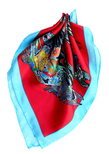 The Gallop, Red Neckerchief/Pocket Square, 45cm Square