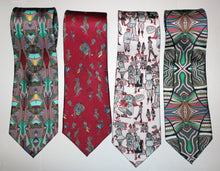 100% Silk Twill Tie, Buildings Inspired