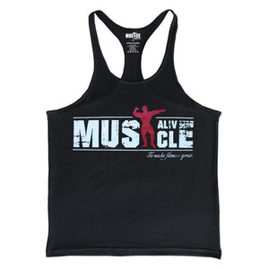 Muscle Alive Stringer Tank Top