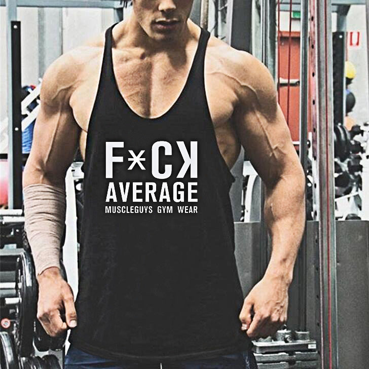 Fitness bodybuilder sleeveless t shirt