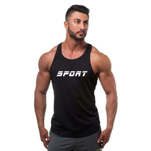 Sport Fitness Stringer Tank Top