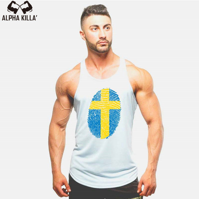 Flag Stylish Men Sleeveless Tank Top