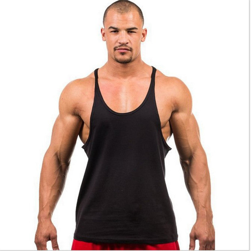 Bodybuilding Plain Stringer Tank Tops