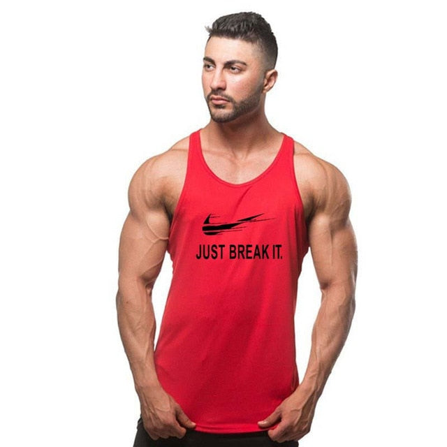 JUST DO IT Workout Tank Top Men Stringer