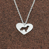 Dog Heart Silhouette Necklace