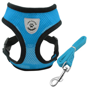 Soft and Breathable Nylon Mesh Dog Harness and Leash Set