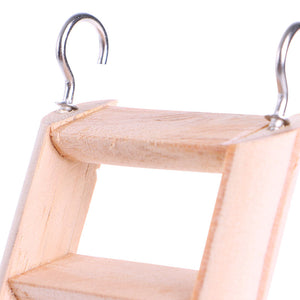 Natural Wooden Hamster Climbing Ladder