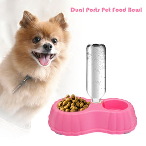 Pet Food Bowl for Cats/Dogs with Water Dispenser Feature