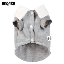 Warm Mock Shirt Cardigan Garment for Small Dogs