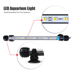 Submersible 12 LED Aquarium Light (Blue/White Light Variants)