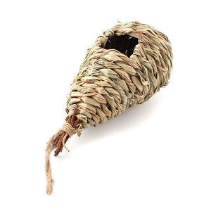 Natural Grass Woven Hanging Birdhouse Nest
