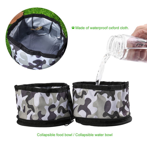 Waterproof Collapsible Travel Dog Bowl