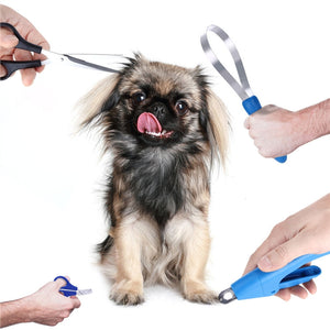 UKCOCO 4-Piece Stainless Steel Dog Grooming Set