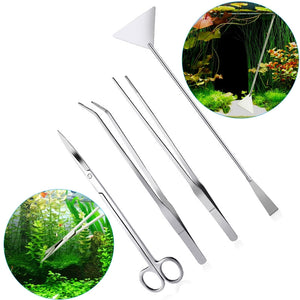 UEETEK 4 Piece Stainless Steel Aquarium Cleaning Set