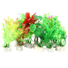 VORCOOL Pack of 10 Plastic Aquarium Plants - Super Value!