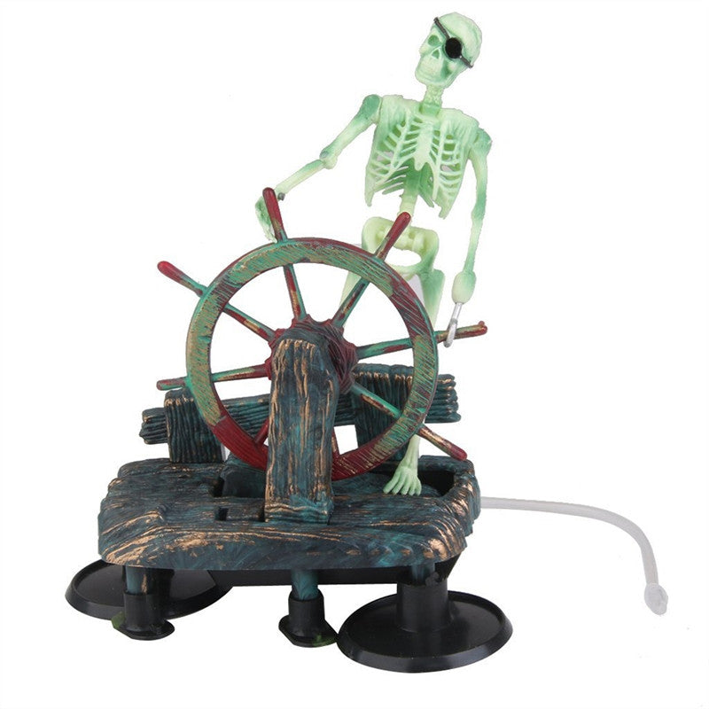 Captain Skull Aquarium Ornament