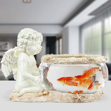 Decorative Cherub Glass Fish Bowl