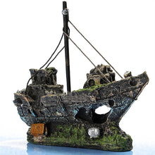 Wreckage Fishing Boat Aquarium Ornament