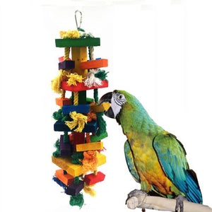 Multi-Coloured Durable Parrot Chew Toy