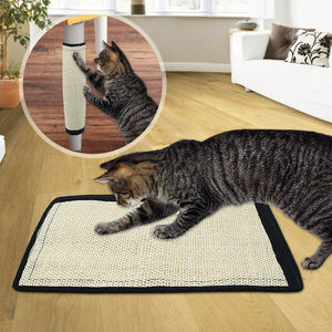 Durable Sisal Cat Scratching Mat with Velcro Fastening