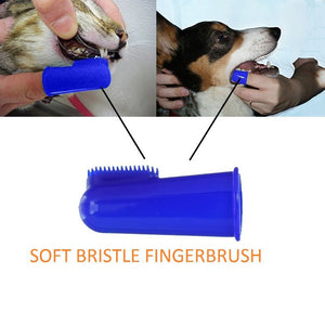 Dog/Cat Finger Brushes x6 and Dual-Headed Toothbrushes x2 - Bumper Pack of 8