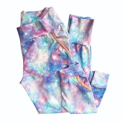Mom & Mini Bubblegum Galaxy Joggers