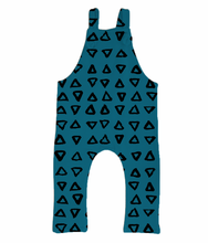 Teal & Triangles Overalls