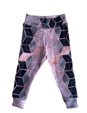 Blush Geo Leggings - RTS