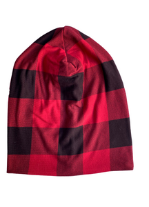 Buffalo Plaid Slouchy Beanie - RTS