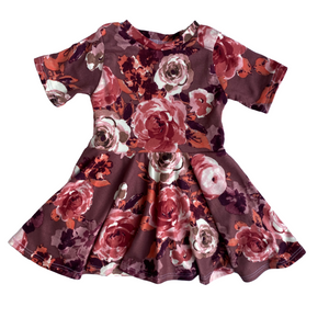 Mauve Floral Dress -  Clearance