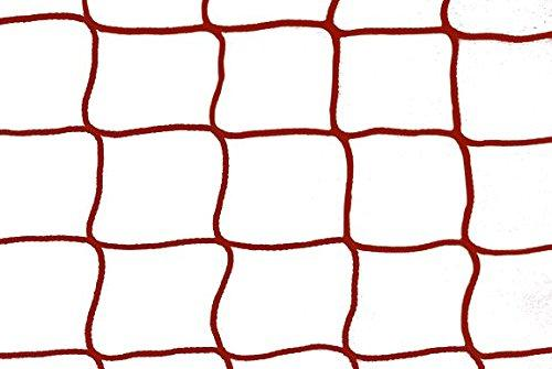 1 Pair Indoor Hockey Nets 3.0 m x 2.0 m, 4,5 cm, Cord 3.0 mm Assorted Colours, red