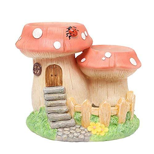 1 Pc Micro Hanging Artificial Landscape Creative Tiny Plants Flowers Succulent Garden Pot Holders (Mushroom)