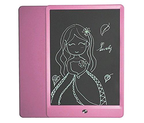 10 inch LCD Writing Board, Electronic Notepad, Paperless digital drawing tablet for Kids and Business, with memory lock and stylus (Pink)