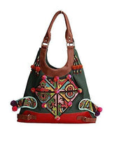100% Handmade Handbag Purse Hobo Weekend Bag - Fine Oriental Embroidery Art #128