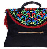100% Handmade Handbag Purse Satchel Duffle Bag - Fine Oriental Embroidery Art #106