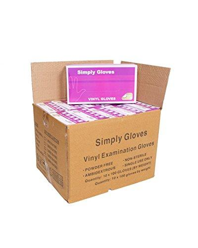 1000 gloves - 10 boxes - Disposable Vinyl Gloves, Latex and Powder Free Size Large. Cleaning, Decorating, Tattoo, Motor Mechanics