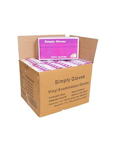 1000 gloves - 10 boxes - Disposable Vinyl Gloves, Latex and Powder Free Size Medium. Cleaning, Decorating, Tattoo, Motor Mechanics