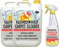 10L + 750ml of Pro-Kleen x Mylek Ultima+ Professional Carpet & Upholstery Shampoo – Citrus Fragrance - High Concentrate Cleaning Solution - Suitable For All Machines