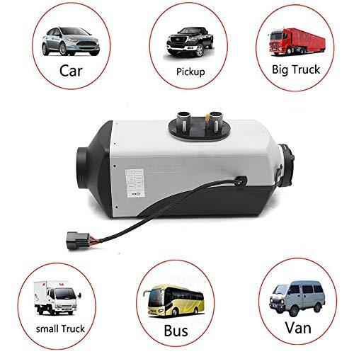 12V 5000W LCD Monitor Air Diesels Fuel Heater Single Hole 5KW For Boats Bus Car Heater With Remote Control And Silencer