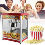 1400W Popcorn Maker Machine Red Electric Popcorn Machine Hot Air Stainless Steel Pop Corn Maker with Reusable Vintage Serving Bucket for Party Bar KTV Theater