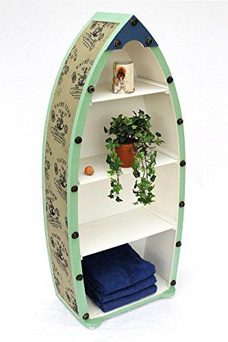 15 A055 Boat Shelf Bathroom Shelving 72 cm 122 cm Shabby Chic Cabinet Bathroom Furniture Set of 2, Set of 3, XL H-122cm