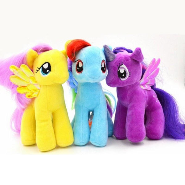 19CM 6 Colors Plush Unicorn Horse Stuffed Animals Toys Baby Infant Girls Birthday Gift Rainbow