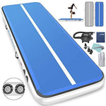 1INCH Airtrack Tumbling Mat 6M Gymnastics Mat 20 cm Thick Air Track Mat Inflatable Tumbling Mat Air Track Flooring Mat for Gym, Yoga, Training, Exercise, Taekwondo, Fitness, Kids (Blue, 6M 20cm)