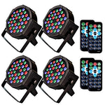 1KOOT DJ Disco Stage Light, 36 LEDs (4 Packs) With Sound Activated DMX And Remote Strobe Lights - Suitable For Band DJ KTV Club Bar Family Reunion Wedding Party