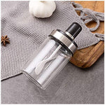 1Pc Seasoning Storage Bottle with Spoon, Spice Jars Bottles, Condiment Tank, Spice Jars Seasoning Box, Glass Pots Cruet Salad Dressing Bottle for Home Kitchen Storage Containers